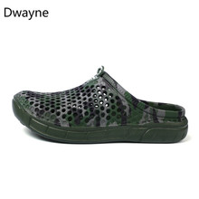 2de59f6d7fded5 Dwayne Men s Beach Sandals Outdoor Summer Sea Aqua Shoes Wading Sneaker  Gardon Croc Hollow Water Quick Drying Walk slippers