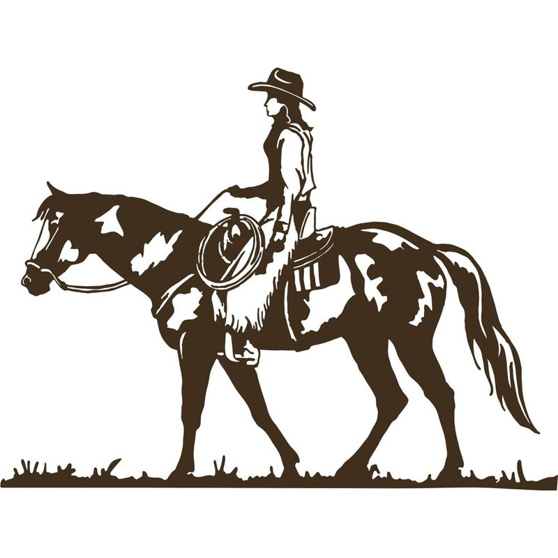 New Year Christmas Season Arrival Home Decors Western Rodeo Cowboy Cow Riding Horse Wall Stickers Living Room Posters