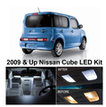 Envío Gratis 5 Unids/lote Paquete Kit Xenon Blanco LED Luces Interiores Para Nissan Cube 2009 & Up