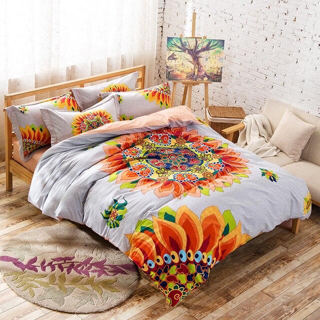 Housse De Couette Exotique coloré floral bohème style exotique ensemble de literie pour plein