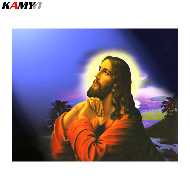 diy diamond painting cross stitch religious figure Jesus inlaying technology full square diamond mosaic suite home accessories