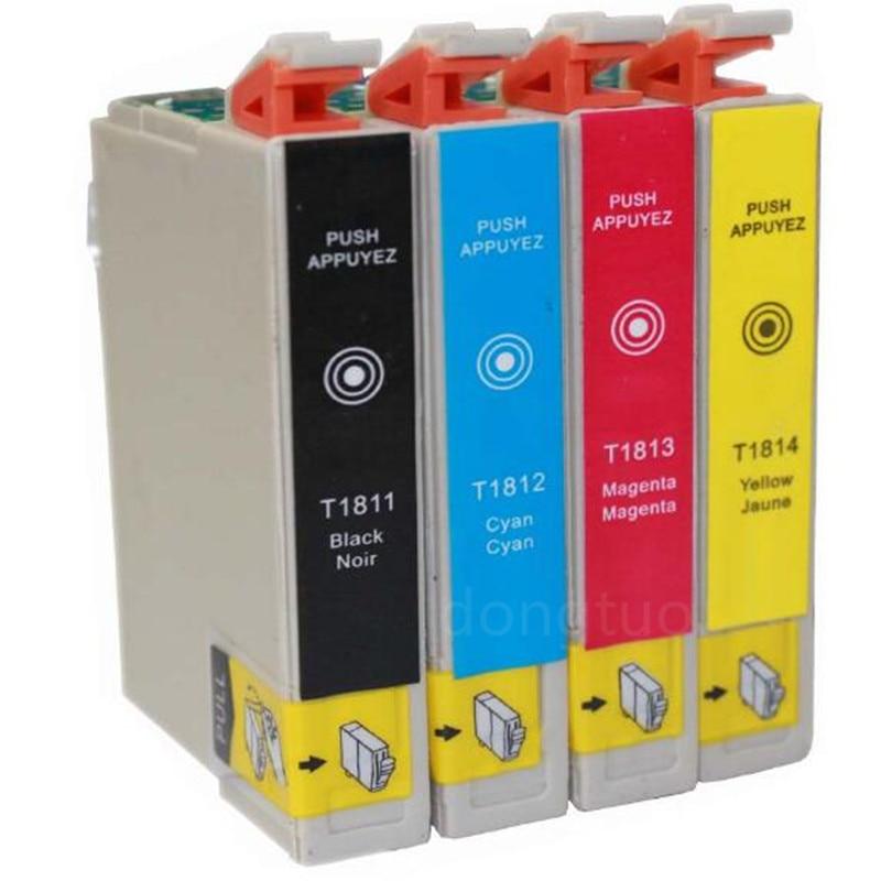 Cartucho de tinta compatível Para T1811 T1812 t1811 T1813 XP-225 XP-322 XP-325 XP-422 XP-425 XP-225 XP322 XP325 XP422 XP425 impressora