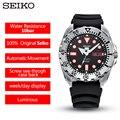 100% Оригинальные автоматические механические мужские часы Seiko 5 из нержавеющей стали, 10 бар, водонепроницаемые спортивные часы для дайвинга, ...