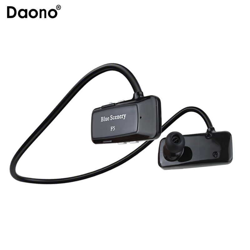 Original F5 Sports Bluetooth Headset SD Card Slot Auriculares Music Headphones Mic IPX4 Wireless Earphones FM Radio MP3 Player stylish neckband headphones mp3 player headset w fm tf card slot blue black