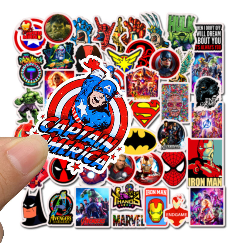 Image 5 - 50PCS Superhero Computer Stickers Waterproof Laptop Skin Vinyl Deco Sticker Skateboard Suitcase for MacBook Lenovo Notebook Skin-in Laptop Skins from Computer & Office