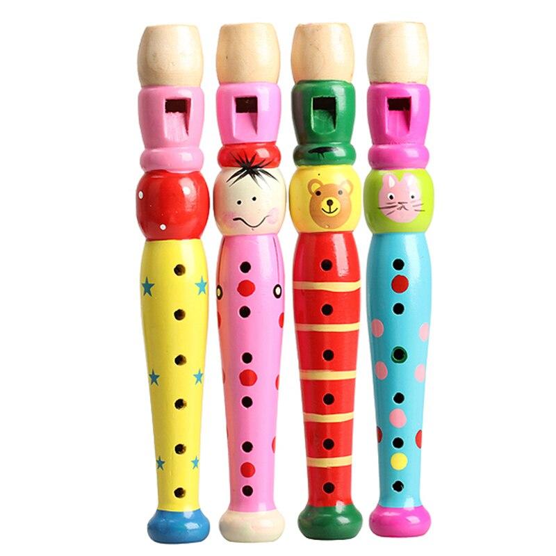 Деревянный Игрушки для маленьких детей Красочные обучения детей Флейта хорошо разработанная дети Флейта Dizi музыкальный блок инструмент раннее образование игрушка