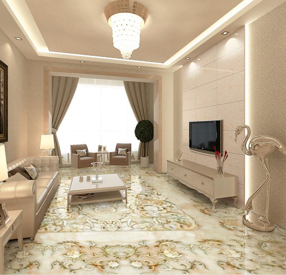 3D floor murals embossed wallpaper 3d photo wallpaper for floor waterproof self-adhesive 3d floor art