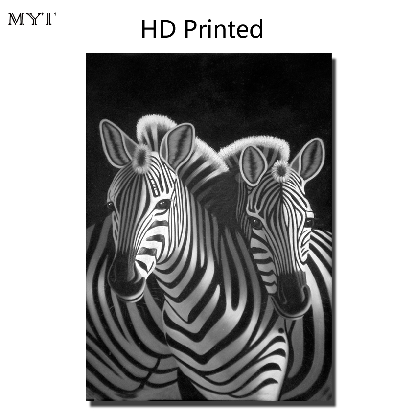 Cheap Hot sale HD painting printed on canvas art wall picture animal zebras playing home decor for room No Framed or Diy Framed