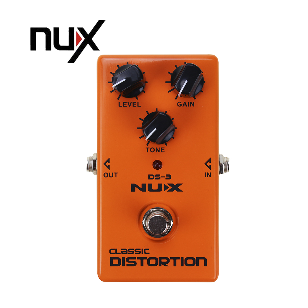 NUX DS-3 Stomp Boxes Classic Distortion/Overdrive Electric Guitar Pedal True-Bypass Guitarra Effectors korg px st pandora stomp