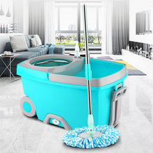 Upgraded Stainless Steel Microfiber 360 Rotating Mop And Bucket Kit Floor Clean Hands-free Spin Mop Bucket Household Cleaning(China)