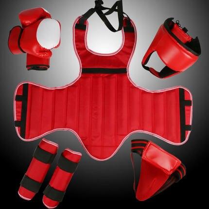 Sanda full set protective goods MMA Taekwondo Karate sport shin protector arm protector helmet body protector