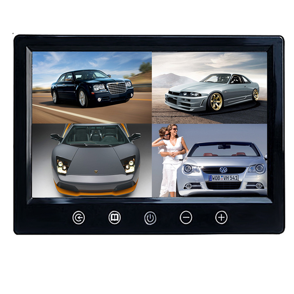 NEW  9 TFT LCD Car Reverse Backup Monitor for Rear View Camera Convenience 17Dec12 podofo 9 tft lcd car monitor headrest display support 4 split screen for rear view camera dvd vcr remote control car styling