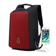 Baibu Merek Pria Ransel Password Lock Anti Pencurian Eksternal USB Charge 15.6 Inch Notebook Komputer Tas Ransel Perjalanan(China)