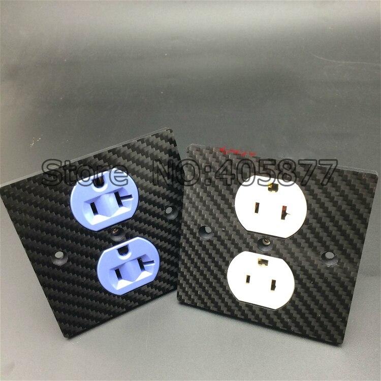 Viborg power Duplex Receptacle Copper Carbon Fiber Outlet HIFI Socket стоимость