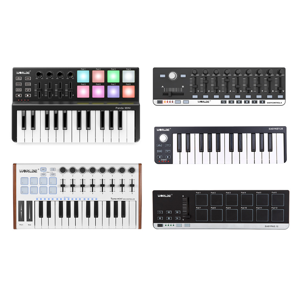 Portable MIDI Keyboard Controller Mini USB Keyboard MIDI Control MIDI Controller Keyboard Pads 7 Styles For Option