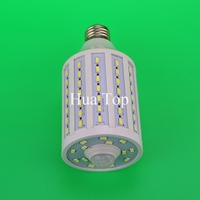 25W Intellgent Motion LED SMD 5730 chip 98 E27 B22 E14 PIR Infrared home light Porch ampoules body induction lamp Energy saving