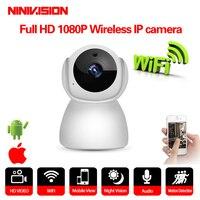 Hause 1080 p IP Kamera Wireless CCTV Überwachung Home Security Wifi Kamera 2 Weg Audio Nacht Vision Baby Monitor Indoor 2MP-in Überwachungskameras aus Sicherheit und Schutz bei