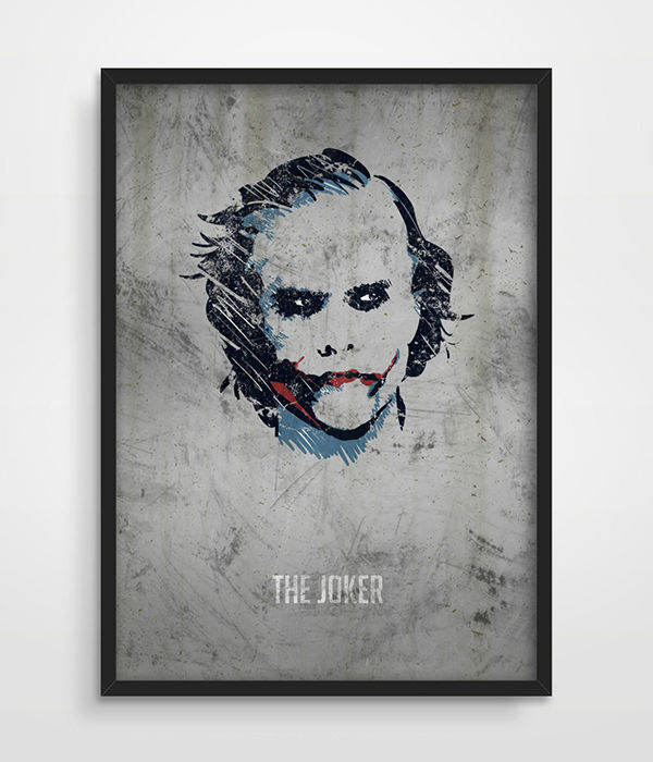 The Joker Poster, Superheroes, DC Comics, Superhero Wall Art, Dark Knight,  ...