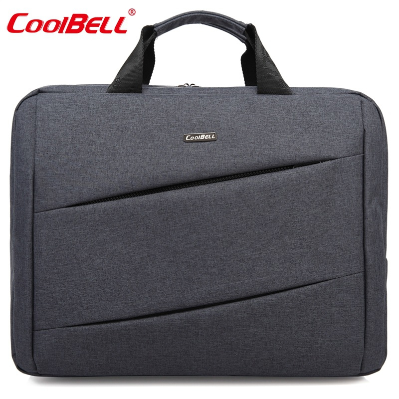 COOLBELL 14 15 Inch Nylon Solid Shockproof Laptop Notebook Tablet Bag Bags Case Messenger Shoulder Unisex for Men Women-FF
