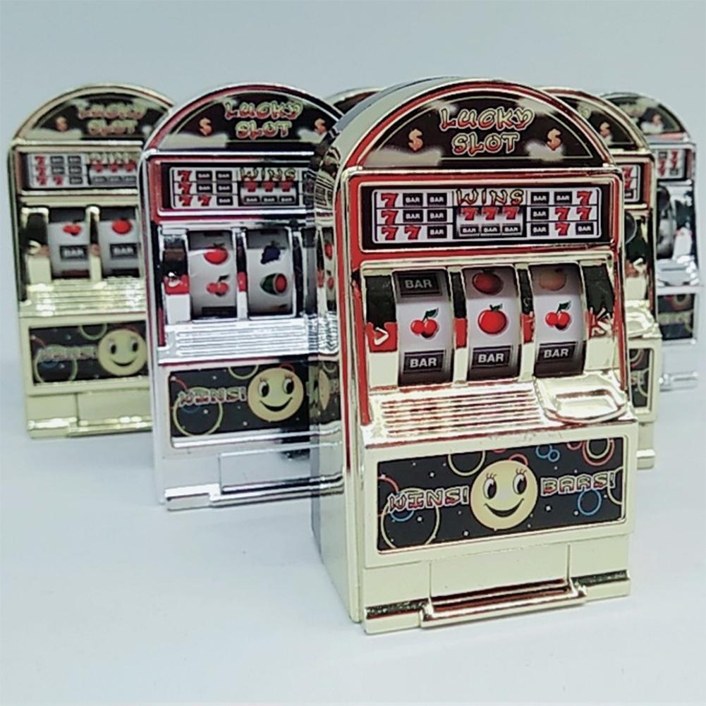 LeadingStar Children Mini Casino Slot Machine Fruit Relieve stress Anxiety Boredom Decompression Lucky Jackpot Toy Color Random