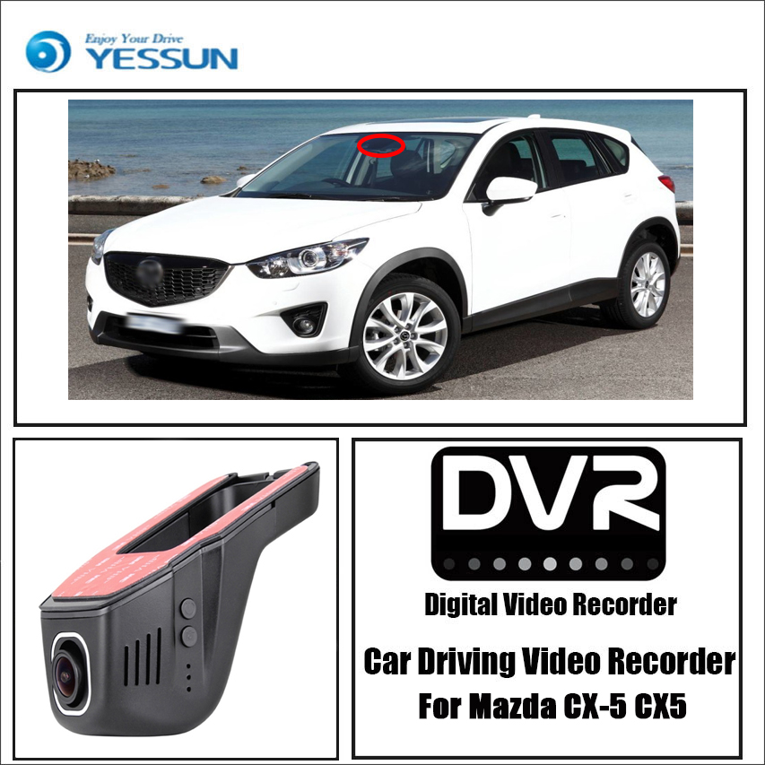 For Mazda CX-5 CX5 / Car Driving Video Recorder DVR Mini Control APP Wifi Camera Black Box / Registrator Dash Cam bigbigroad app control car wifi camera for mazda atenza car driving video recorder car black box g sensor no damage to car