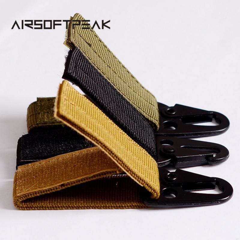 Carabiner Molle Attach Hook EDC Gear Backpack Nylon Tactical Waist Key Clip Webbing Buckle Hanging Belt Buckle Outdoor Tools