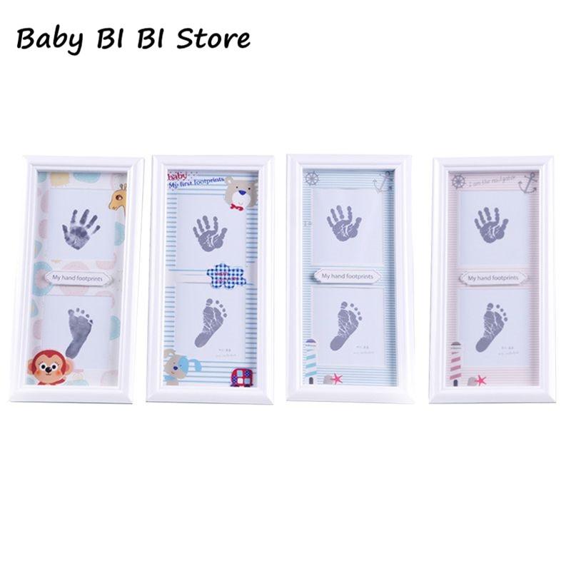 Новорожденные младенцы ручная печать ноги грязи фоторамка ребенок сувенир сто дней новые родители подарки украшения стены