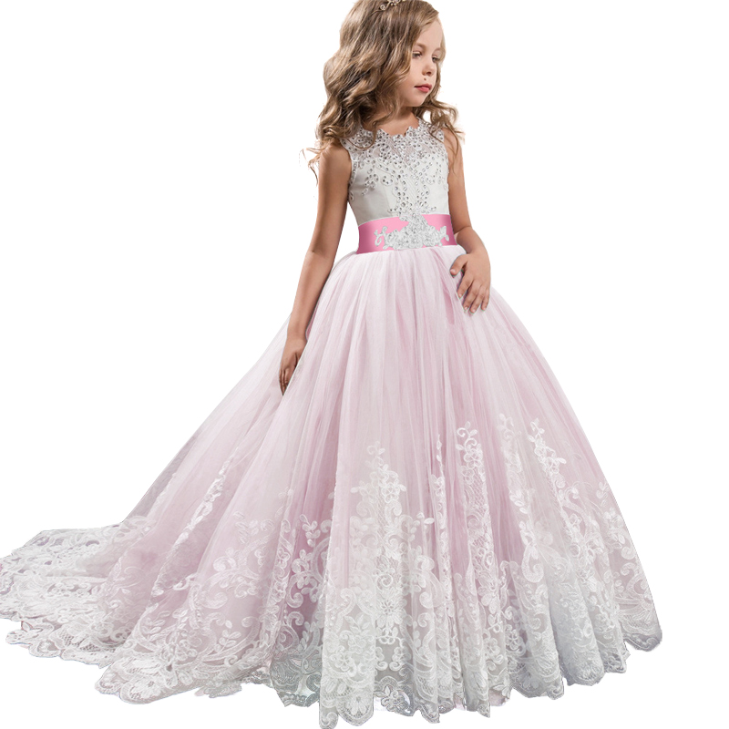 2019-Summer-Teenagers-Bridesmaid-Girls-Dress-Kids-Dresses-For-Girls-Clothing-Princess-Dress-Party-Wedding-Dress