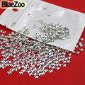 BlueZoo Novo 1000 unidades/pacote 4mm * 4mm de Prata Decoração de Unhas de Metal Decoração Da Estrela Para DIY Dicas de Decoração