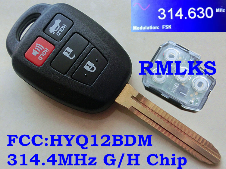 New Keyless Entry Remote Key Fob For a 2012 Toyota Yaris 3 Buttons w// Hold