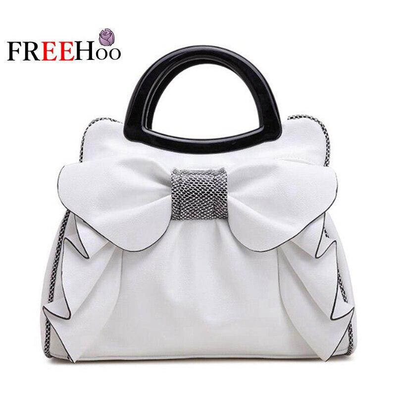 Sacs pour femmes 2019 européenne nouvelle mode blanc doux papillon noeud luxe designer pu cuir marque sac à main sac à bandoulière