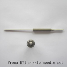 цена на Prona R71 R77 spray gun nozzle needle set, free shipping, R-71 R-77 parts accessories spray gun kit, spray gun nozzle