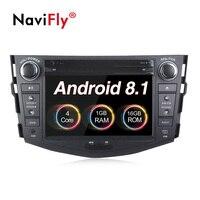 Navifly 2 din Android 8,1 Автомобильный мультимедийный Радио стерео проигрыватель для Toyota Previa RAV 4 RAV4 2007 2008 2009 2010 2011 с gps для автомобиля, dvd