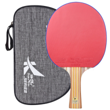 New Double Fish 7 layers Carbon Fiber Table Tennis Racket Pingpong Paddles Racquet Bat DK4 Flared Handle With Polish Texture Bag best quality carbon bat table tennis racket with rubber pingpong paddle short handle tennis table rackt long handle offensive