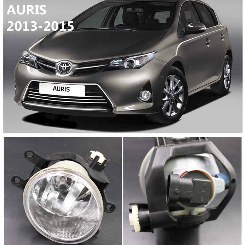 For TOYOTA AURIS  2013-2015 Front Bumper Lights Fog Lamps Halogen Car Styling 1 SET  81220-02160  81220-12230 car styling pair of 12v 55w front fog lights bumper lamps for toyota corolla 2013 2014