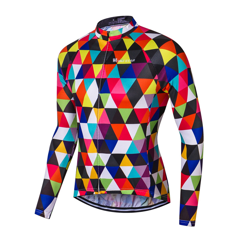 Weimostar 2019 Breathable Long Sleeve Cycling Jersey MTB Road Bike Jersey Ropa Ciclismo Autumn Cycling Clothing Bicycle Clothes