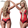 2017 hot new perspective lace sexy lingerie stock blue strapless red pink leotard bare-chested sexy underwear Polyester Size