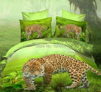 3d oil leopard bed sheet,4pc bedding sets without filler,leopard print duvet cover,leopard bed linen bedspreads queen фото