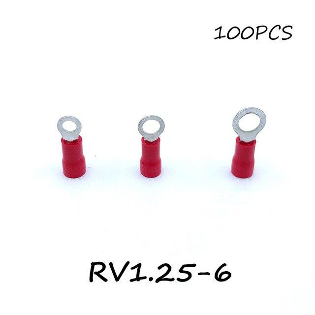 Ring Kaltgerätestecker Terminal Block 100 STÜCKE RV1.25 6 Rote Kabel ...