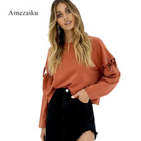 Foreign Trade In Europe And The Speed To Sell Through Ebay Amazon Orange Long Sleeve Splice