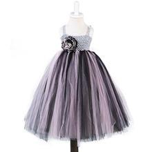Ankle Length Party Dress for Baptism Toddler Girl Pink Black Polyester Mesh Tutu Princess Christening Costumes Newborn-15Y