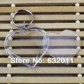 Promocional DIY acrílico openable forma do coração photo frame etiqueta chaveiro titular imagem frame foto