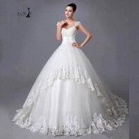 Robe De Mariee Grande Taille Công Chúa Phong Cách Wedding Dress với Beaded LORIE 2017 A-Line Ren Appliques Bridal Gown Elegant