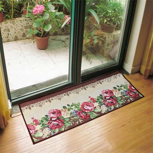 Romantic Floral Room Floor Mats,Sweet Rose Print Carpets For Living on table cover for home, designer welcome mats, speakers system for home,