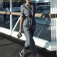 Sexy Jumpsuit High Waist Black Jumpsuits For Women Street Style Loose Rompers Female 2018 New Autumn Clothing