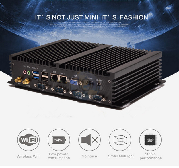Dual LAN Mini PC Windows 7 Dual Nic Fanless Mini PC I5 3317U Port Intel Core I3 Industrial PC With Debian/Windows I5 Minipc I3