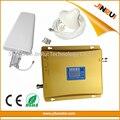 LCD dual band WCDMA 2100 gsm 900 Telefone Celular Repetidor de Sinal de Reforço com Antenas celulares Ao Ar Livre Indoor