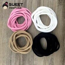 Free shipping 4pcs/lot 4colors 2016 New Solid Elastic Nylon Headband, kids Headbands,Girls and Kids Hairband Hair Accessories