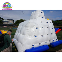 Custom used rock climbing wall inflatable iceberg giants inflatable water toy for sale