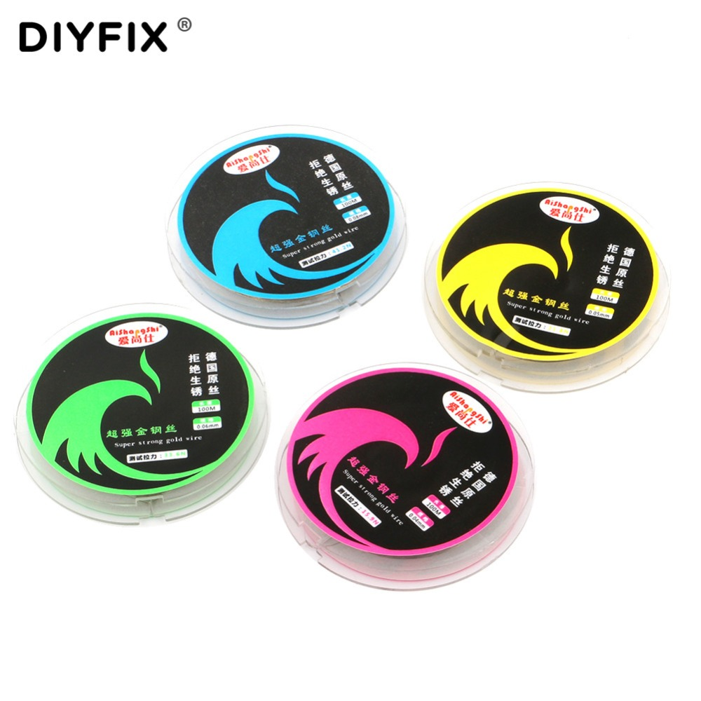 DIYFIX 0.04-0.08mm LCD Screen Separation Wire 100m Cutting Line Diamond Wire for iPhone Samsung Mobile Phone Repair Hand Tools image